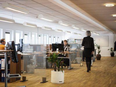 employés d'une entreprise en train de travailler sur des ordinateurs